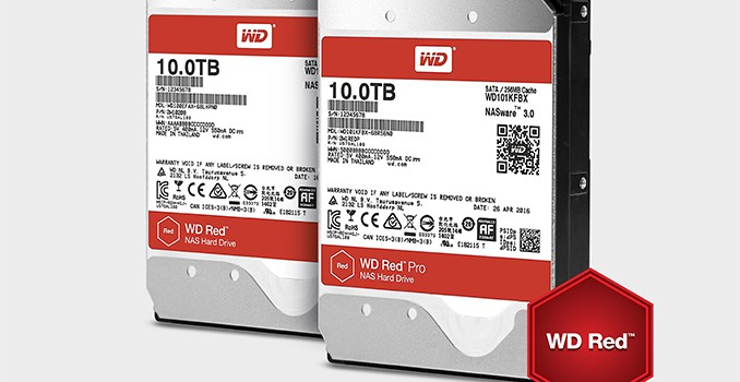 WD Adds Helium-Filled 10 TB NAS HDDs to WD Red, WD Red Pro Lineups